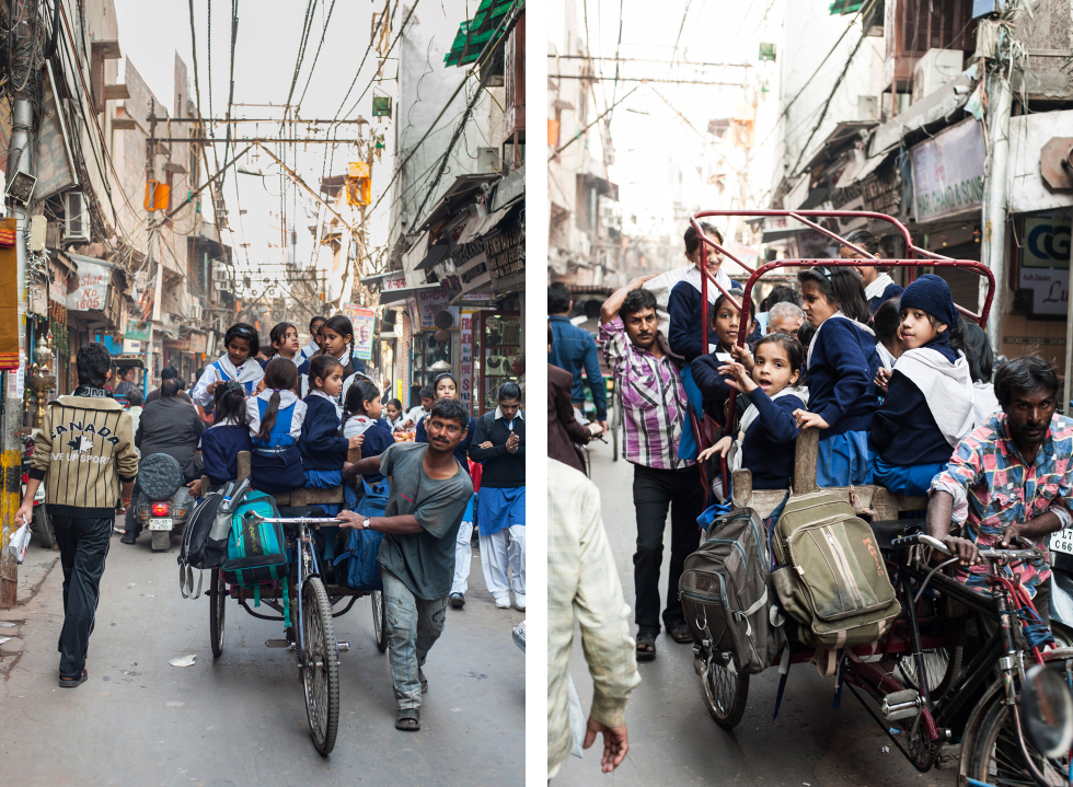 India Old Delhi rickshaw duo 1