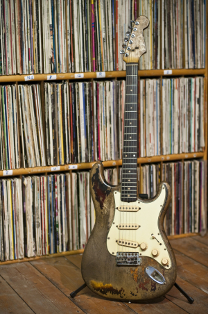 Rory Gallagher's Fender Stratocaster and vinyl collection