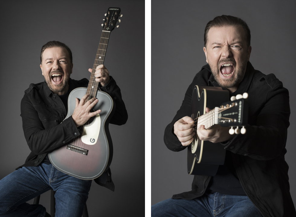 Ricky Gervais - Guitar Aficionado - Eleanor Jane Photography 1