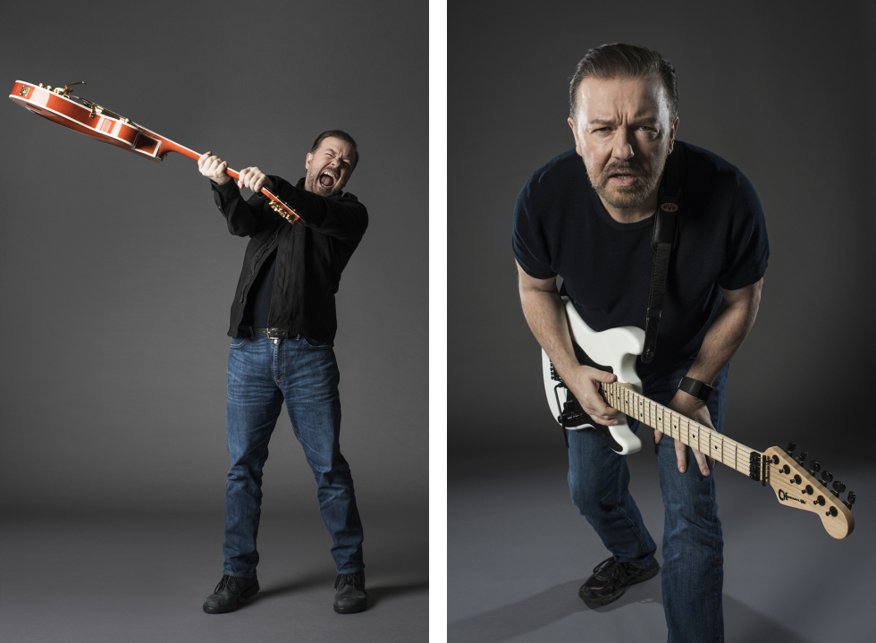 Ricky Gervais - Guitar Aficionado - Eleanor Jane Photography 2