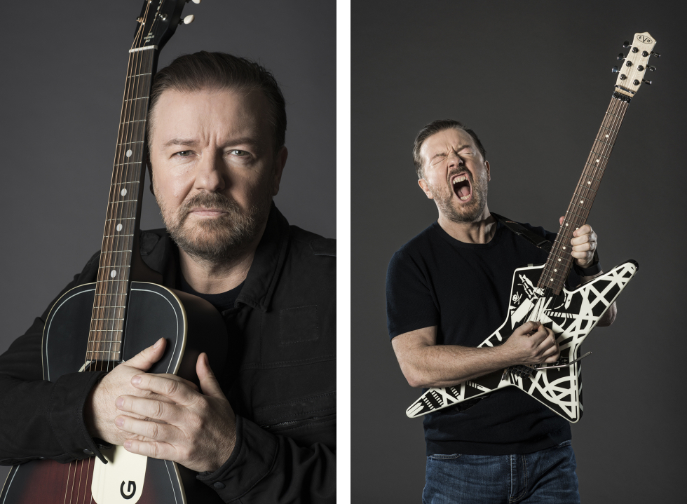 Ricky Gervais - Guitar Aficionado - Eleanor Jane Photography 3